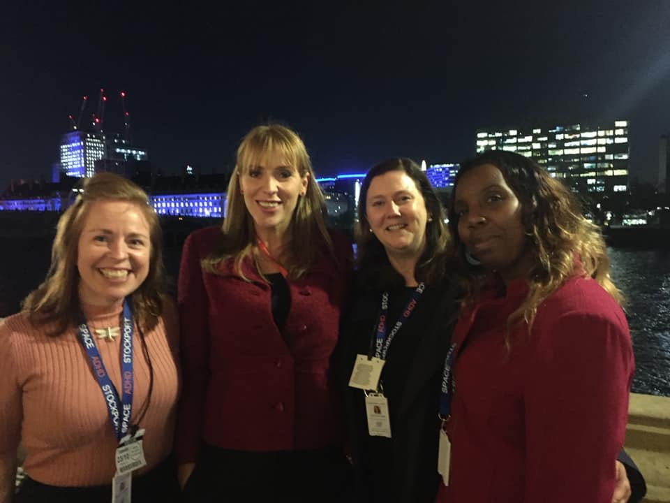 Angela Rayner with The SPACE Team